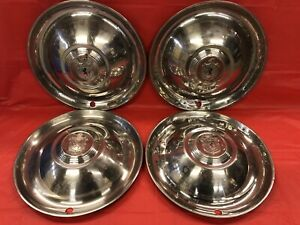 Vintage Set Of 4 Lyon Aftermarket 15 Hubcaps