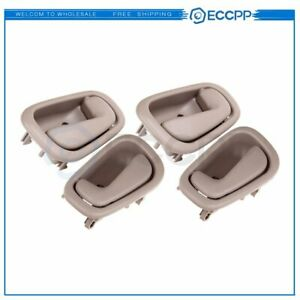 4pcs Inside Door Handle Tan For 98 02 Toyota Corolla Chevrolet Prizm Tan Beige