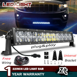 new Style 22inch Drl Led Light Bar Off road For 2011 18 Jeep Grand Cherokee Wk2