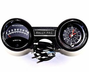 1964 1965 Ford Mustang Rally Pac Kit V8 W 8000 Rpm Mustang Tach 64f 13508 Mm