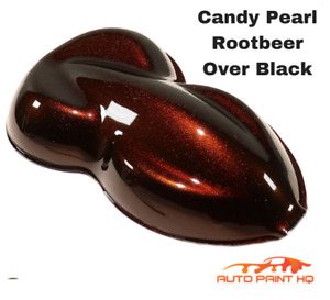 Candy Pearl Rootbeer Over Black Basecoat Quart Car Motorcycle Paint Kit