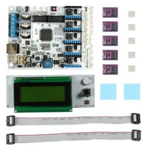 3d Printer Kit Gt2560 Controller Motherboard lcd 2004 5pcs A4988 Driver cable