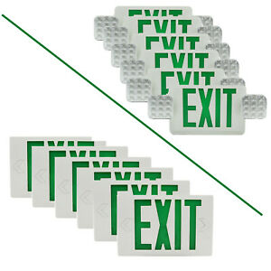6pcs Exit Light Universal Green Emergency Lighting Indoor Exit Sign