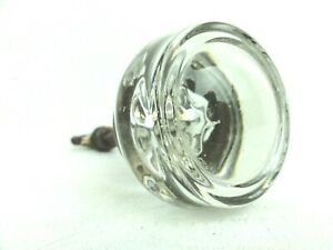 Vintage Interior Glass Door Knob 1 7 8 With Brass Thumb Turn