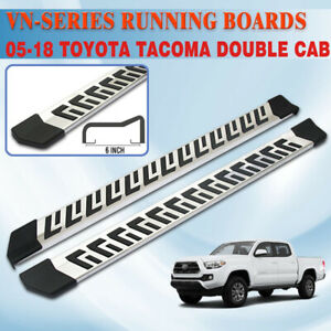 For 05 20 Toyota Tacoma Double Cab 6 Running Board Side Step Nerf Bar S s Vn