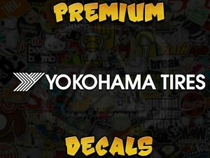 Jdm Yokohama Tire Logo Decal Sticker For Race Enthusiast Many Colors And Sizes