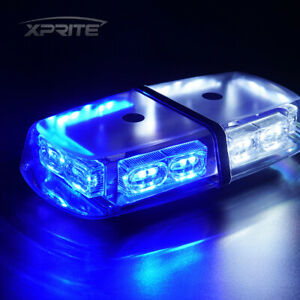 White Blue 36 Led 18w Flash Strobe Lights Bar Roof Top Car Emergency Warning