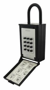 Nuset Lock Box Combination 5 Key Capacity Mounting Type Wall Silver black