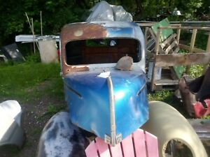 1940 46 Ford Pick Up Truck Cab With Hood Front Fenders Rat Rot Hot Rod
