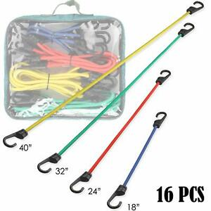 A Selected 16pcs Rubber Bungee Cord With Hooks A Bag Of Bungee Cord Including 1