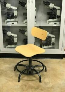 Vintage Adjusto Equipment Co Adjustable Drafting Chair Stool W Foot Ring