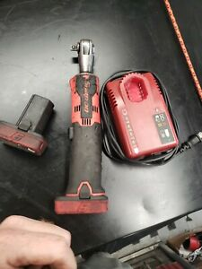 Snap On Ctr761b Cordless Ratchet Red 3 8 Kit 2 Batteries And A Charger