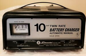 Schumacher 10 Amp Twin Rate Battery Charger Model Se40ma 6 12 Volt Made In Usa