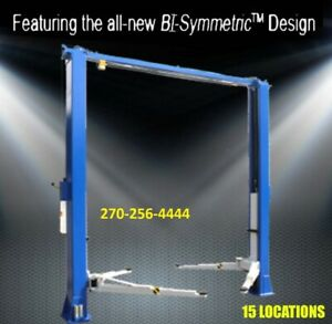 2 Post Lift 11 000 Two Post Lift Bi symmetric Best Price Guaranteed Call Me