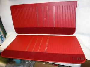 New Repo 1964 Cutlass Front Door Panels Red 442 Olds 64 Gs Oldsmobile