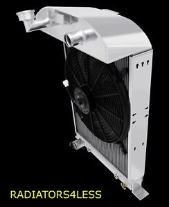 Champion 3 Row Radiator W 16 Fan 33 34 Ford Car Model 40 46 Coupe Ford V8