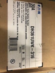 Eaton Dh361uwk 316 Disconnect Safety Switch 3 Pole 30a 600v Nema 4x New In Box