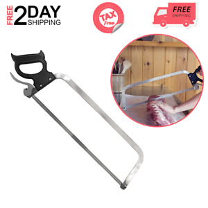 Butcher Saw For Meat Cutter Sturdy Blade Bones Game Easy Fast Breaking Down 22