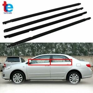 4pcs Weatherstrip Window Moulding Trim Seal Belt For 2009 2012 Toyota Corolla