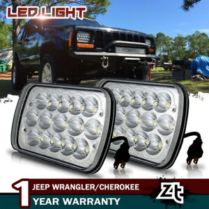 2 Led Replacement Headlights For 1986 1995 Jeep Wrangler 1984 2001 Cherokee