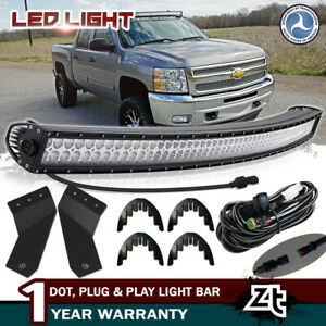 50 Curved Led Light Bar Brackets For Chevy Silverado Gmc Sierra 1500 2500 3500