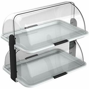 Double decker Countertop Bakery Display Case Serving Dishes Trays Platters