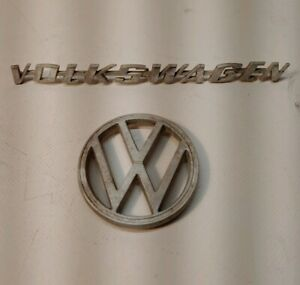 Vintage Vw Emblem Authentic Good Badge