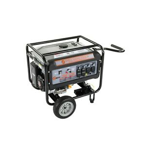 8750w Gas Powered Generator With Wheels And Handle Dirty Hand Tools