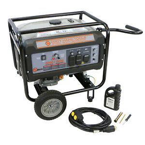 6500w Storm Ready Gas Generator With Wheels And Handle Dirty Hand Tools