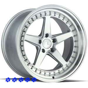 Aodhan Ds05 Wheels 19 X 9 5 11 22 Silver Staggered 5x4 5 94 98 Ford Mustang Gt