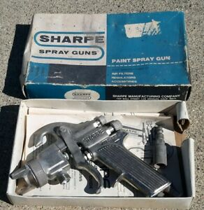 Sharpe Model 75 P i Spray Gun In Original Box W paper Cleaning Instructions
