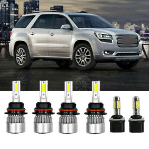 6x 6000k White 9007 Headlight 899 Fog Light Led Bulbs For Dodge Dakota 1998 2000