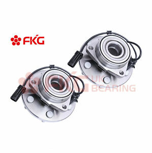 2 Front Wheel Hubs Bearings Pair Set W Abs For Chevy Gmc Truck 4wd 6 Lug 515036