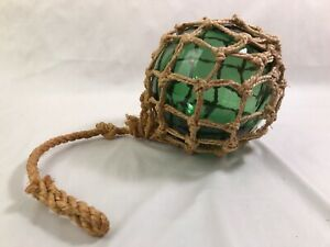 5 Green Glass Fishing Net Float Fish Net Buoy Nautical Home Bar Maritime Decor