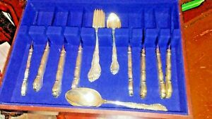 Gorham Sterling Silver Flatware Andante Service For 8