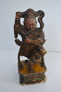 Antique Wood Carved Chinese Figure
