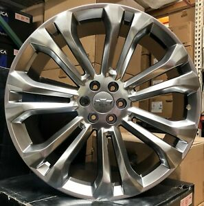 26 Inch Chevy Silverado Replica Wheels Gmc Sierra Yukon Silver Tires Tahoe New
