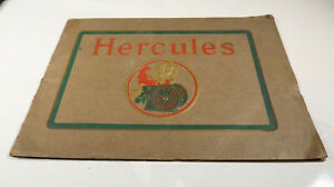 Hercules Engines Hit And Miss Gasoline Kerosene And Oil Catalog Brochure Early