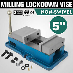 5 Non swivel Milling Lock Vise Bench Clamp Hardened Metal Drilling Removal