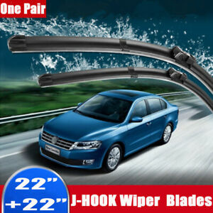 22 22 Inch Windshield Wiper Blades J Hook High Quality Bracketless Frameless