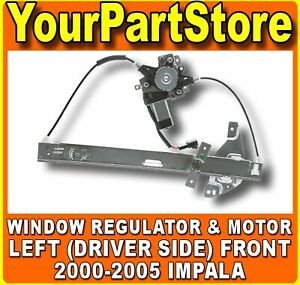 Left Front Driver Side Power Window Lift Regulator Motor Fits 2000 2005 Impala