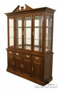High End Cherry Traditional Style 65 Buffet W Lighted Display China Cabinet