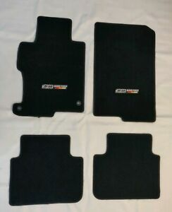 For 13 17 Honda Accord Black Nylon Floor Mats W M Emblem New
