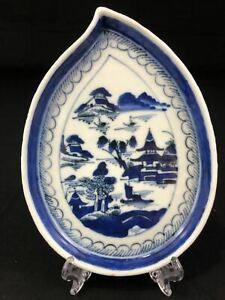 Rare Qing Dynasty Chinese Export Porcelain Leaf Form Dishes Plates 70