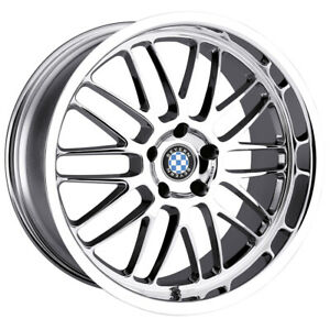 Beyern Mesh 18x8 5 5x120 15mm Chrome Wheel Rim