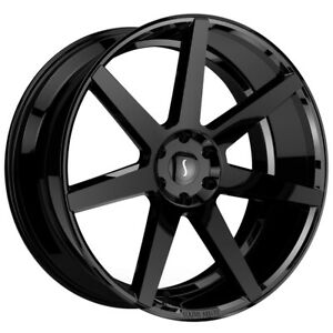 Status Journey 24x10 5x115 15mm Gloss Black Wheel Rim