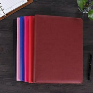 A4 File Folder Notebook Briefcase With Calculator Padfolio Pu Leather Binder