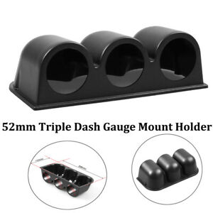 Black 2 52mm 3 Triple Hole Dash Gauge Pod Mount Holder Abs Universal Car New