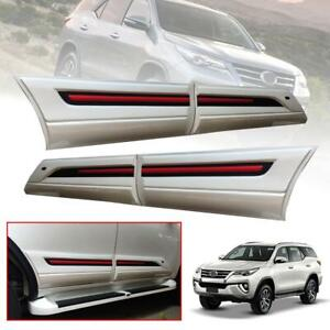 Side Doors Guard Body Cladding White Trim Fit Toyota Fortuner Sw4 2015 2018