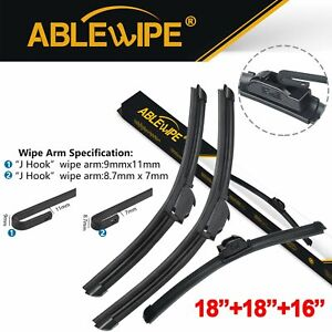 Ablewipe Fit For Toyota Land Cruiser 1997 1988 Windshield Wiper Blades Set Of 3